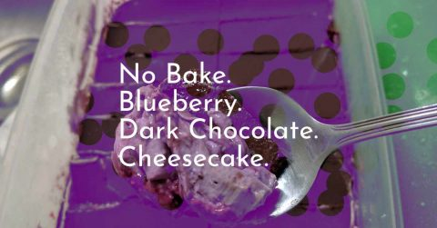 Featured Image for No Bake Dark Chocolate Blueberry Cheesecake post